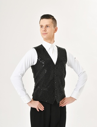 TAKA DANCE Men's Sequin Vest MV19