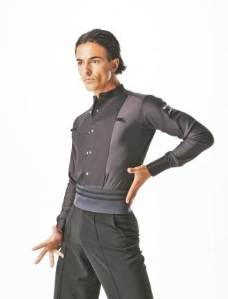 Ballroom Shirts MS145S (Black)